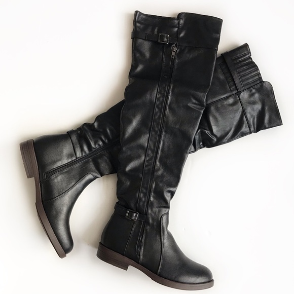 df9a057fd37 Chase   Chloe black over the knee boots